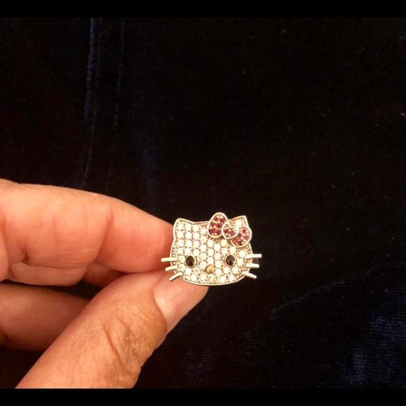 947fa2ee1 Sanrio Jewelry | Hello Kitty Sterling Diamonique Cutie Ring | Poshmark